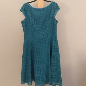 Black Label Teal Lace Dress Size 16